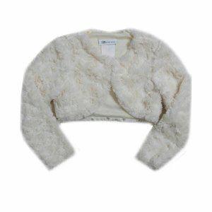 Bonnie Baby 3-6M Ivory Faux Fur Jacket NWT 1T22